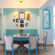 地中海风格餐厅简约背景墙装饰