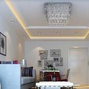 后现代风格客厅吊顶灯饰装饰