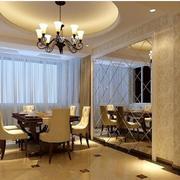简欧风格奢华餐厅背景墙装饰