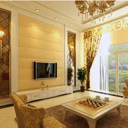 欧式简约风格客厅吊顶灯饰装饰
