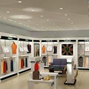 现代简约风格服装店货架装饰