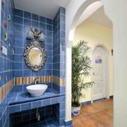 地中海卫生间拱形门装饰