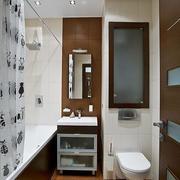 现代简约风格卫生间原木背景墙装饰