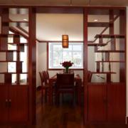 中式简约客厅置物架隔断装饰