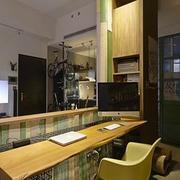 东南亚简约风格原木吧台装饰