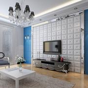 欧式简约软包电视墙设计