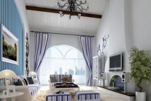 地中海风格客厅窗户装饰