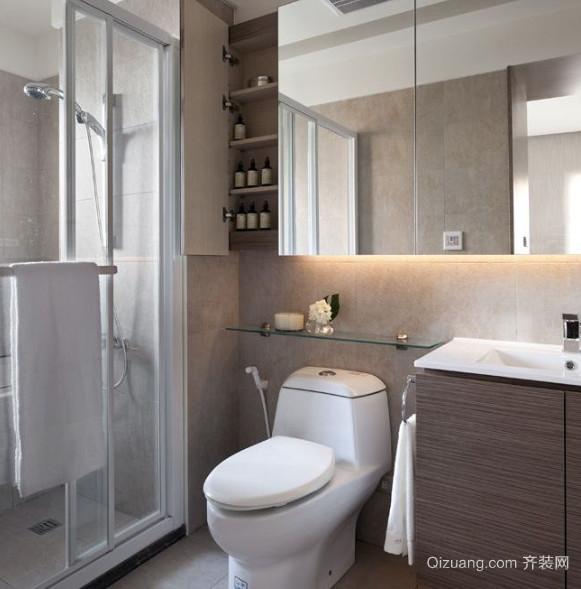 两室一厅现代简约卫生间装修效果图