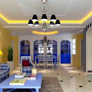 地中海风格客厅灯饰装饰