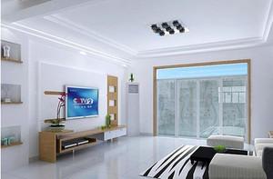 现代简约典雅式客厅吊顶装修效果图