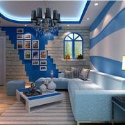 地中海客厅照片墙装饰