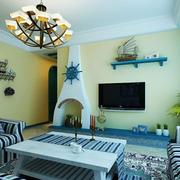 地中海简约客厅吊顶装饰