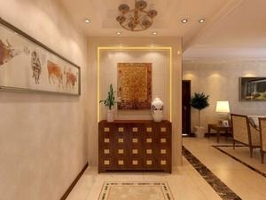 欧式风格奢华客厅玄关装饰