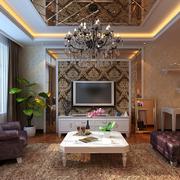 欧式经典风格客厅置物架装饰