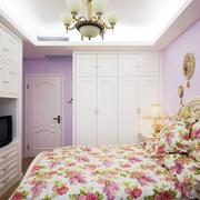 唯美纯白色调卧室图