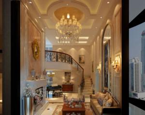 欧式复式楼客厅精美款