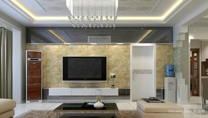 大户型客厅吊顶造型装修效果图