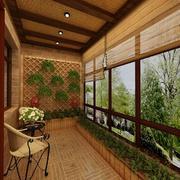 东南亚风格阳台装饰