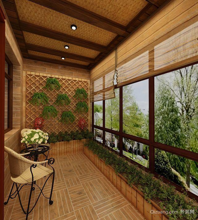 别墅欧式采光阳台榻榻米装修效果图