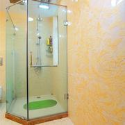 卫生间简约玻璃隔断装饰