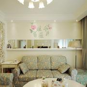 欧式田园风格客厅沙发装饰