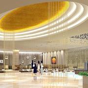 欧式简约风格圆形展厅吊顶装饰