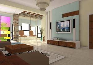 中式简约风格客厅电视柜设计