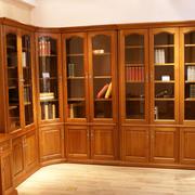 转角书柜现代中式款