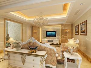 欧式豪华造型客厅图示