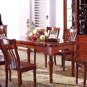 美式简约深色系餐厅桌椅装饰