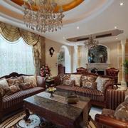 欧式风格奢华别墅窗帘装饰