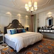 欧式简约风格卧室石膏板背景墙装饰