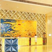 暖色调大厅设计图