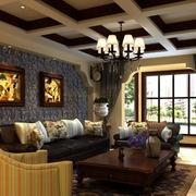 美式简约风格客厅背景墙装饰