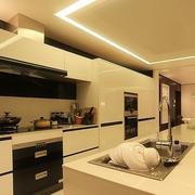 后现代风格整体式厨房吧台装饰