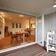 日式阳台置物架装饰