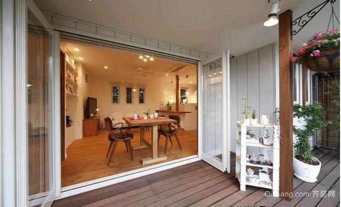 日式大户型阳台装修效果图