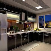 后现代风格密集式厨房吊顶装饰