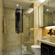 简欧风格奢华卫生间玻璃隔断装饰