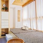 日式经典风格原木地台装饰