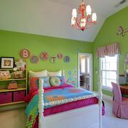 美式清新简约风格儿童房背景墙装饰