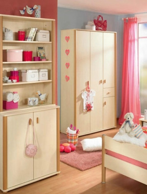 儿童卧室简易衣柜装修效果图