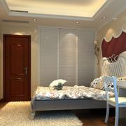 三室一厅简约风格卧室床头背景墙装饰