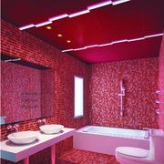 现代风格红色系卫生间装饰