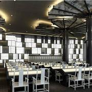 后现代风格黑白色经典饭店设计
