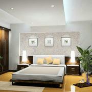 复式楼简约风格卧室墙衣装饰