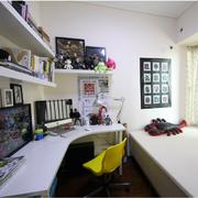 韩式清新风格书房置物架装饰