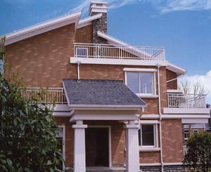 现代精美小别墅外墙砖效果图