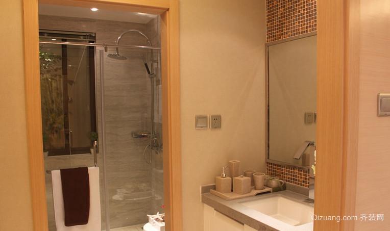 复式楼卫生间干湿分离装修效果图