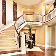 别墅简约风格旋转楼梯装饰